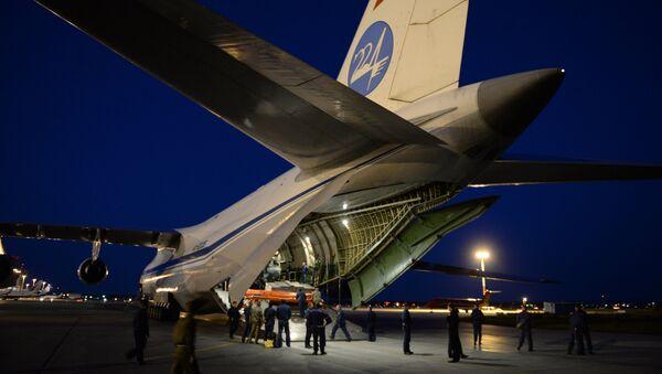 Военно-транспортный самолет Ан-124-100 Руслан - Sputnik Азербайджан