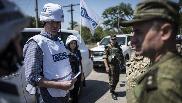 Мониторинг ОБСЕ на линии фронта - Sputnik Azərbaycan