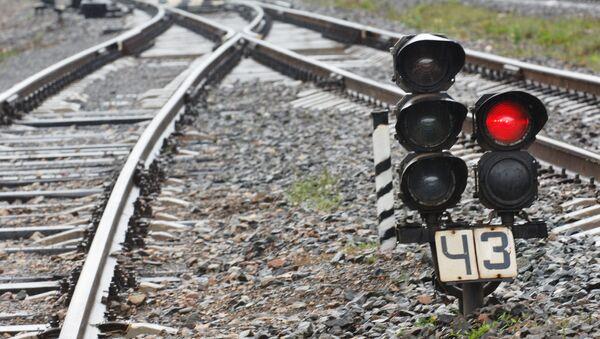 Железнодорожный светофор - Sputnik Азербайджан