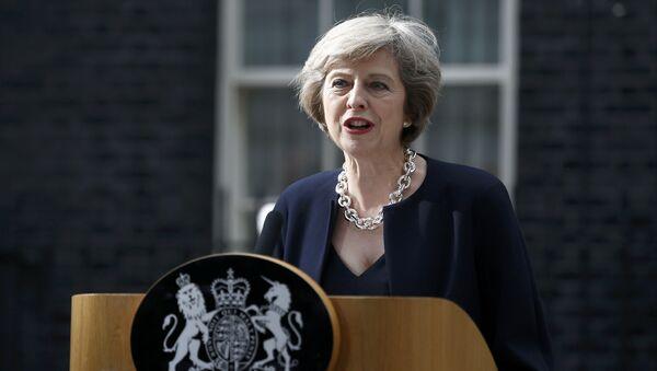 Премьер-министр Великобритании Терезу Мэй - Sputnik Азербайджан