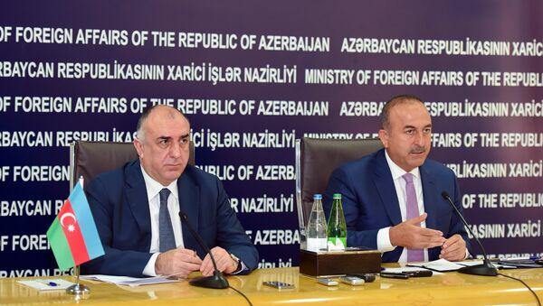 Совместная пресс-конференция глав МИД Азербайджана и Турции в Баку. 15 июля 2016 года - Sputnik Азербайджан