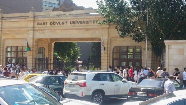 Пробка перед Бакинским государственным университетом. Архивное фото - Sputnik Азербайджан
