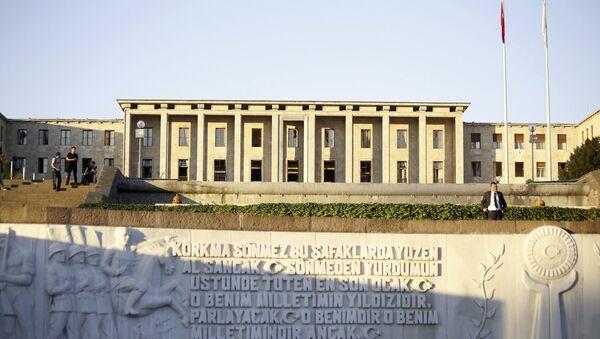 Здание парламента Турции в Анкаре - Sputnik Азербайджан