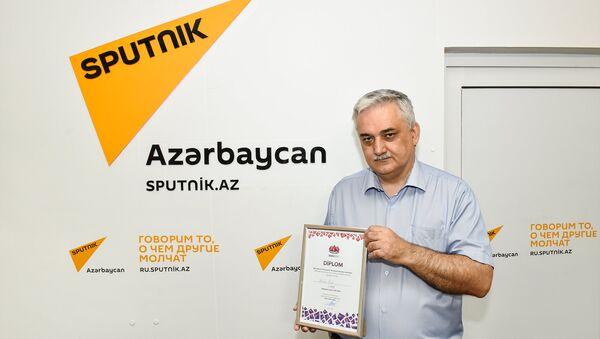Jurnalistlər arasında şahmat turnirinin qalibi Fuad Əlizadə - Sputnik Azərbaycan