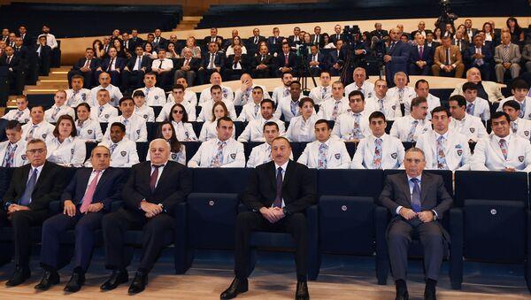 Церемония проводов азербайджанских спортсменов, участвующих в XXXI Летних Олимпийских играх - Sputnik Азербайджан