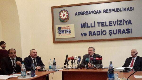 Заседание Национального совета по телерадиовещанию Азербайджана. Архивное фото - Sputnik Азербайджан