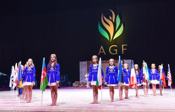 Открытие Кубка мира по художественной гимнастике в Бакуку. - Sputnik Азербайджан