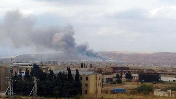 Взрыв в заводе Араз в городе Ширван - Sputnik Азербайджан