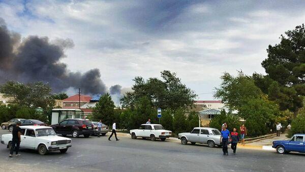 Взрыв в городе Ширван на заводе Араз Министерства оборонной промышленности - Sputnik Азербайджан