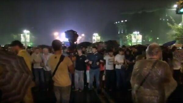 Акция протеста в поддержку группировки Сасна Црер - Sputnik Azərbaycan