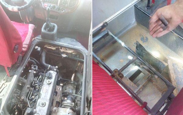 В радиаторе пассажирского автобуса, произошел взрыв - Sputnik Азербайджан