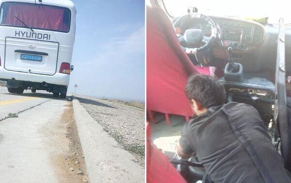 В результате два пассажира (женщина и мужчина) получили легкие ожоги - Sputnik Азербайджан