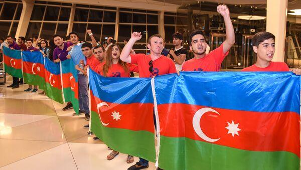 Проводы азербайджанских олимпийцев - Sputnik Азербайджан