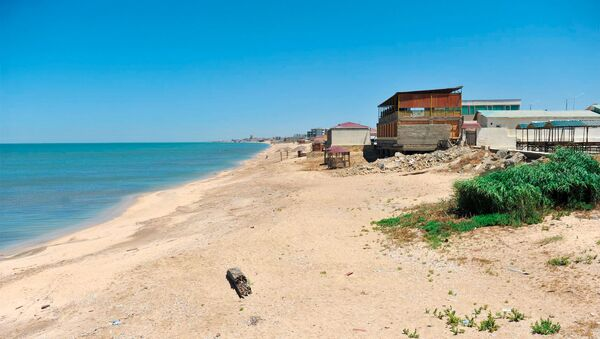 Пляж в Новханы. Архивное фото - Sputnik Азербайджан