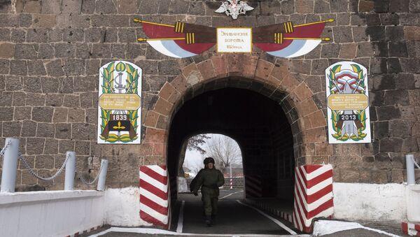 Rusiyanın Gümrüdə yerləşən 102-ci hərbi bazası - Sputnik Azərbaycan