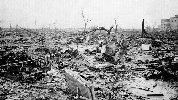 Результат атомной бомбардировки японского города Хиросима - Sputnik Азербайджан