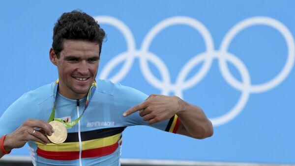 Бельгийский велогонщик Грег ван Авермат завоевал золотую медаль Олимпийских игр 2016 - Sputnik Азербайджан