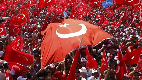 Митинг на площади Йеникапы в Стамбуле - Sputnik Азербайджан