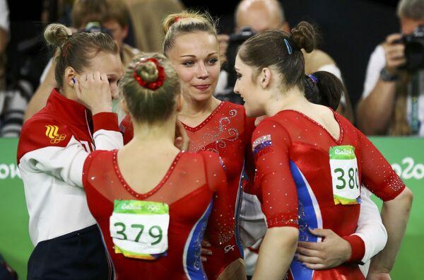 Художественная гимнастика. Российские гимнастки во время финала - Sputnik Азербайджан