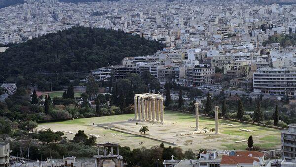 Вид на Афины с высоты Акрополя - Sputnik Азербайджан