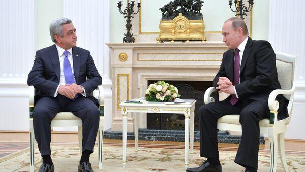 Президент РФ В. Путин встретился с президентом Армении С. Саргсяном - Sputnik Azərbaycan