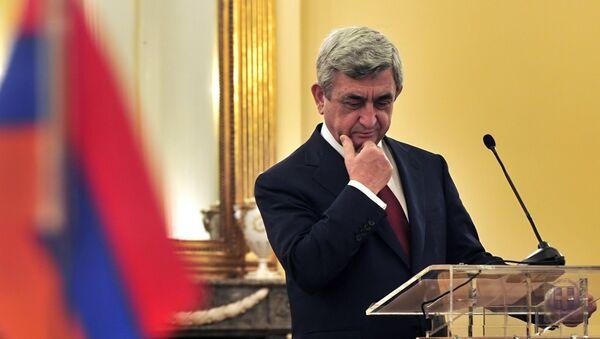 Serj Sarkisyan. Arxiv şəkli - Sputnik Azərbaycan