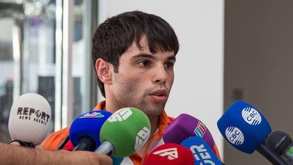 Азербайджанский боксер Эльвин Мамишзаде. Архивное фото - Sputnik Азербайджан