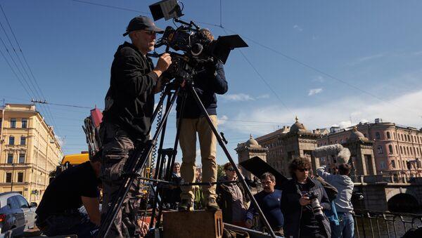 Съемки фильма, архивное фото - Sputnik Азербайджан