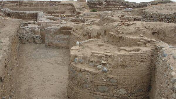 Археологические раскопки на территории Шамкирского района, фото из архива - Sputnik Азербайджан