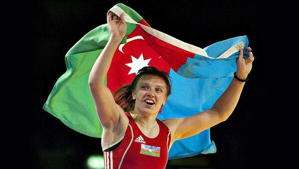 Борец Юлия Раткевич. Архивное фото - Sputnik Азербайджан