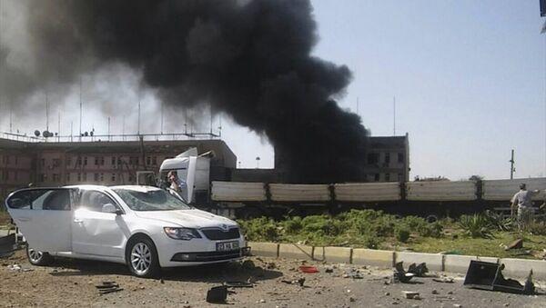 Взрыв в городе Элязыг на востоке Турции - Sputnik Азербайджан