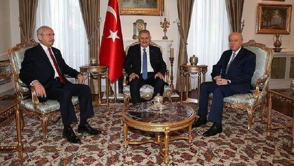 Премьер Турции проводит встречу с лидерами оппозиции - Sputnik Азербайджан