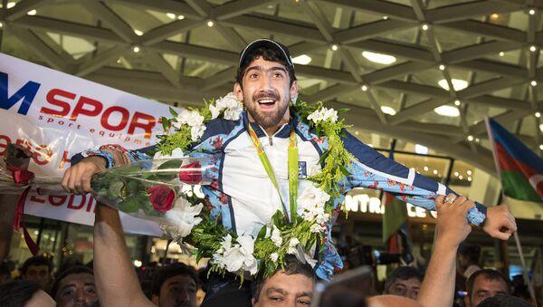Азербайджанские олимпийцы вернулись домой - Sputnik Азербайджан
