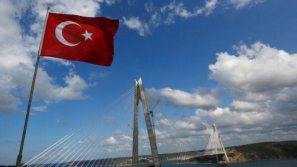 Yavuz Sultan Səlim körpüsünün açılış mərasimi. İstanbul, 26 avqust 2016-cı il - Sputnik Азербайджан