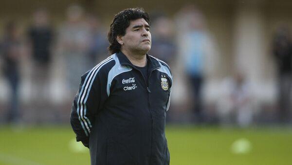 Экс-главный тренер сборной Аргентины Диего Марадона. Архивное фото - Sputnik Азербайджан