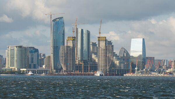 Вид на многоэтажные здания в Баку, фото из архива - Sputnik Азербайджан