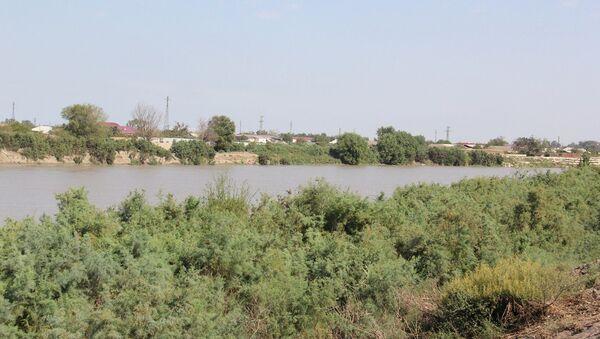 Берег реки Кура, фото из архива - Sputnik Азербайджан