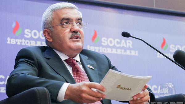 Президент SOCAR Ровнаг Абдуллаев на презентации, посвященной продаже первых пятилетних облигаций Госнефтекомпании АР - Sputnik Азербайджан