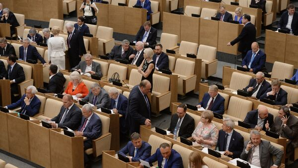 Пленарное заседание Госдумы РФ - Sputnik Azərbaycan