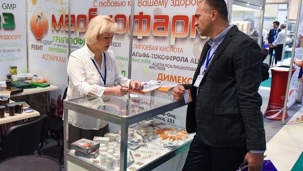 Участники XXII Международной выставки Здравоохранение – BIHE-2016, 19 сентября 2016 года - Sputnik Азербайджан