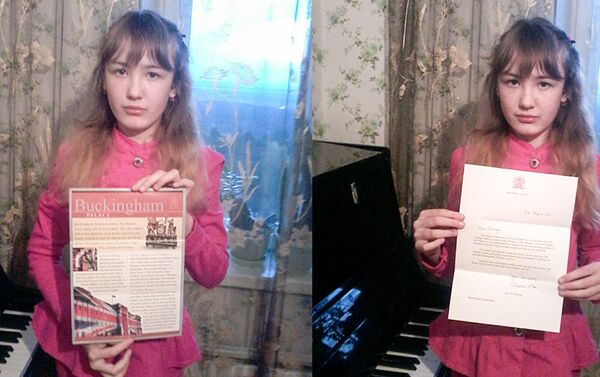 Шестиклассница поздравила ее Величество с 90-летним юбилеем - Sputnik Азербайджан