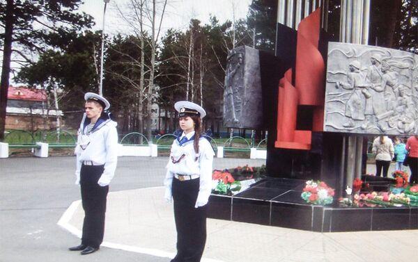 Почетный караул в Саянске - Sputnik Азербайджан