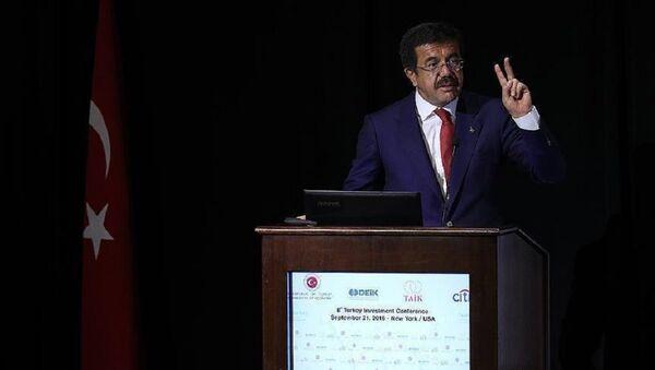 Министр экономики Турции Нихат Зейбекчи - Sputnik Азербайджан