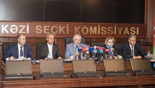 Пресс-конференция с председателем ЦИК Азербайджана Мазахиром Панаховым в преддверии референдума - Sputnik Azərbaycan