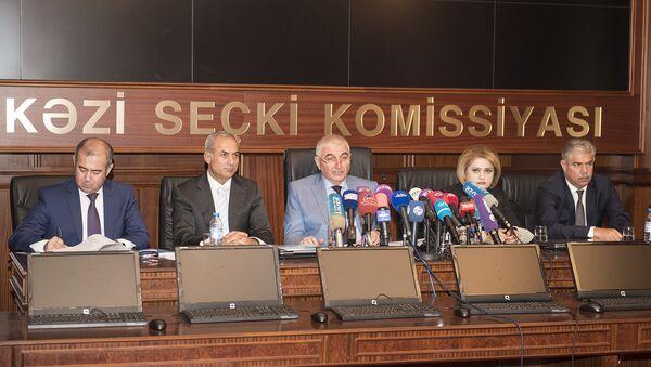 Пресс-конференция с председателем ЦИК Азербайджана Мазахиром Панаховым в преддверии референдума - Sputnik Азербайджан