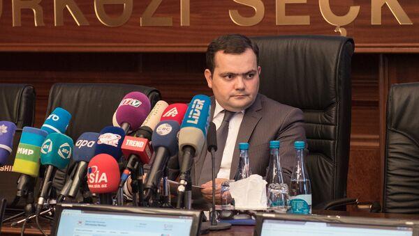 Глава инфоцентра Центральной избирательной комиссии АР (ЦИК) Фарид Оруджев - Sputnik Азербайджан
