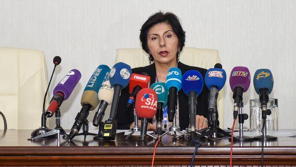 Ирада Ягубова в ходе пресс-конференции в Международном Пресс-Центре - Sputnik Азербайджан