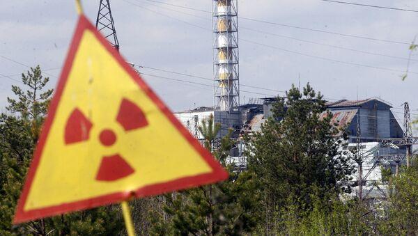 Символ радиационной опасности, архивное фото - Sputnik Azərbaycan