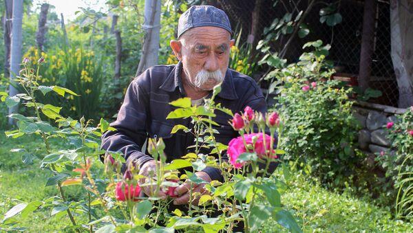 Житель села Гаратала Гахского района Эйюб Махсимов - Sputnik Азербайджан