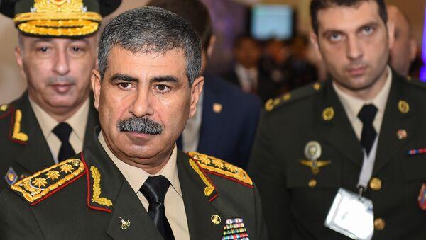 Azərbaycan Respublikasının Müdafiə naziri, general-polkovnik Zakir Həsənov - Sputnik Azərbaycan